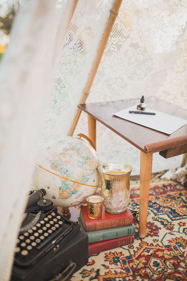 Vintage Decor Infused Bohemian Engagement Session At North Carolina