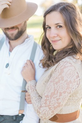 Vintage Decor Infused Bohemian Engagement Session At North Carolina's Historic Oak View Park | Photograph by Hanner Photography Studios  See The Full Story at http://storyboardwedding.com/bohemian-engagement-historic-oak-view-park/
