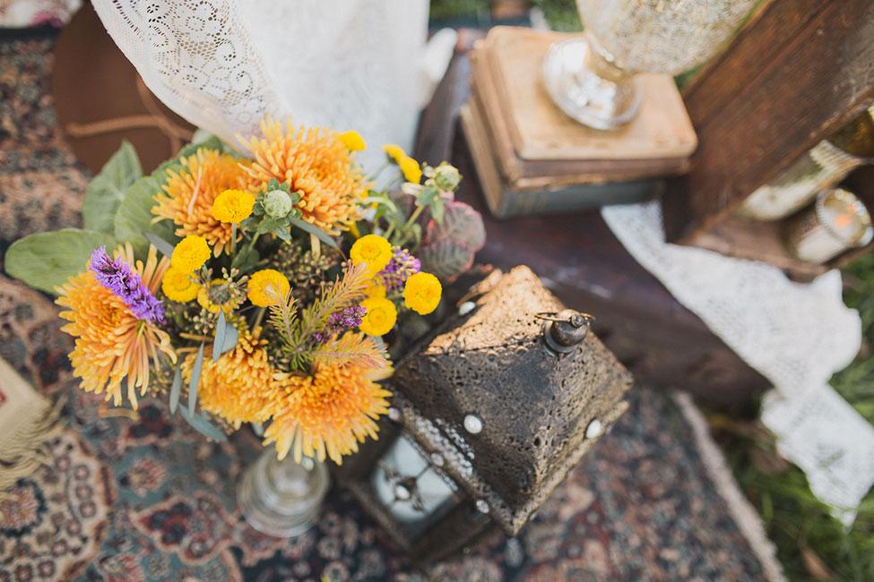 Vintage Decor Infused Bohemian Engagement Session At North Carolina