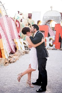 Iconic Las Vegas Neon Museum Engagement Session