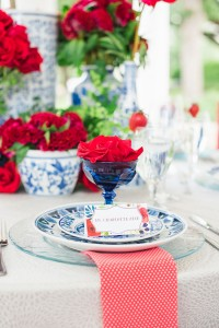 Elegant Red White And Blue Wedding At Stately Arlington Hall At Lee Pa...