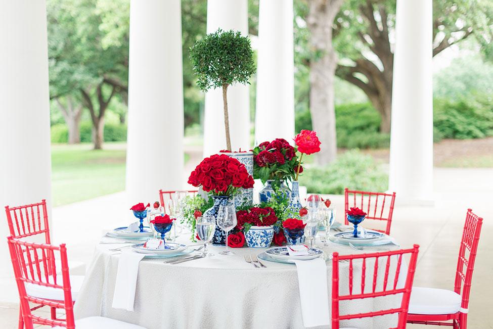 Red White And Blue Wedding Arlington
