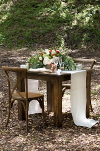 Romantic Woodland Wedding At Ranch At Little Hills Featuring Vintage D...