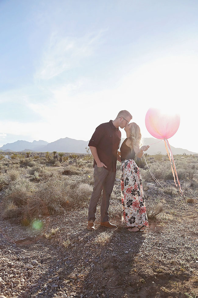 Whimsical Watercolor Inspired Las Vegas Desert Engagement Session | Photograph by Lissables Photography  See The Full Story at https://storyboardwedding.com/whimsical-watercolor-las-vegas-desert-engagement/