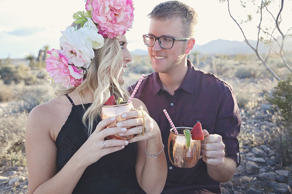 Whimsical Watercolor Inspired Las Vegas Desert Engagement Session | Photograph by Lissables Photography  See The Full Story at http://storyboardwedding.com/whimsical-watercolor-las-vegas-desert-engagement/