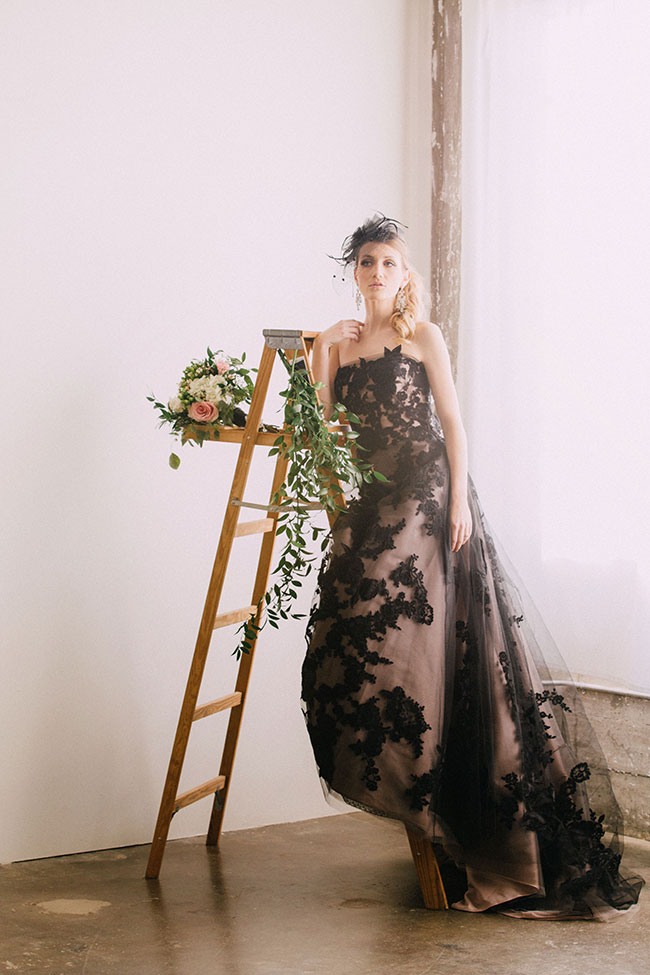 Romantic Victorian Bridal Featuring A Dreamy Black Wedding Dress   Photograph by Endless Exposures Photography