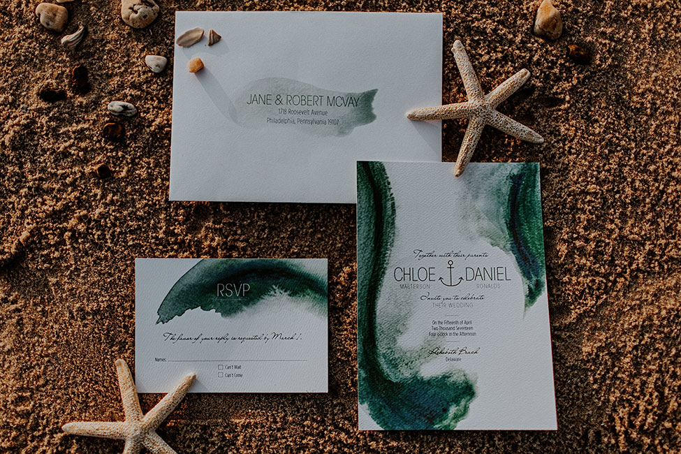 Gorgeously Moody Jewel Tone & Metallic Beach Wedding Inspiration | Photograph by The Hursts & Co.  See The Full Story at http://storyboardwedding.com/moody-jewel-tone-metallic-beach-wedding/