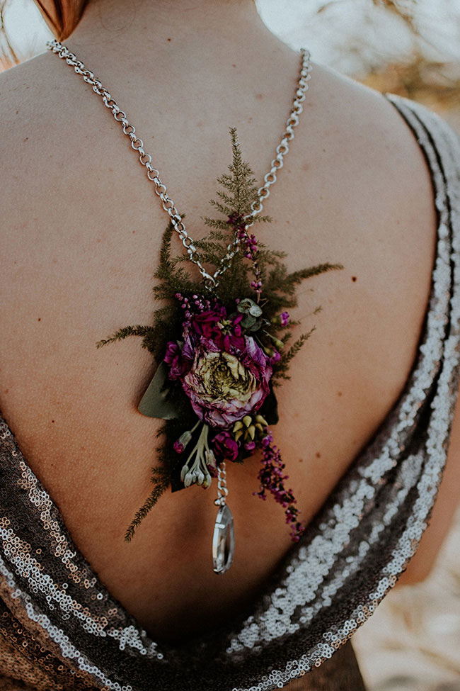 Gorgeously Moody Jewel Tone & Metallic Beach Wedding Inspiration | Photograph by The Hursts & Co.  See The Full Story at https://storyboardwedding.com/moody-jewel-tone-metallic-beach-wedding/