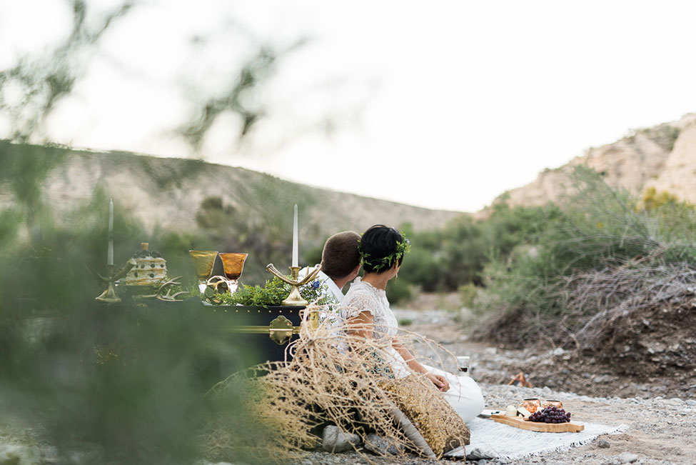 Mt. Charleston Las Vegas Bohemian Vibed Desert Wedding Anniversary | Photograph by Kristen Krehbiel Photography  See The Full Story at http://storyboardwedding.com/mt-charleston-las-vegas-bohemian-desert-wedding/