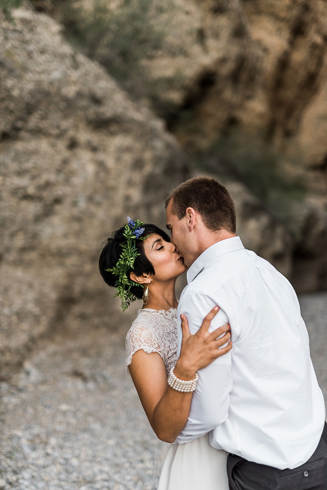 Mt. Charleston Las Vegas Bohemian Vibed Desert Wedding Anniversary | Photograph by Kristen Krehbiel Photography  See The Full Story at https://storyboardwedding.com/mt-charleston-las-vegas-bohemian-desert-wedding/