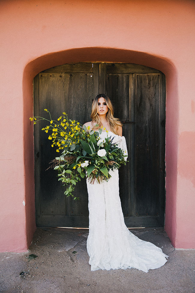 Found & Foraged Bohemian Bridals At Historical La Purisima Mission Wedding | Photograph by Alexandra Wallace See The Full Story at http://storyboardwedding.com/foraged-bohemian-bridals-la-purisima-mission/
