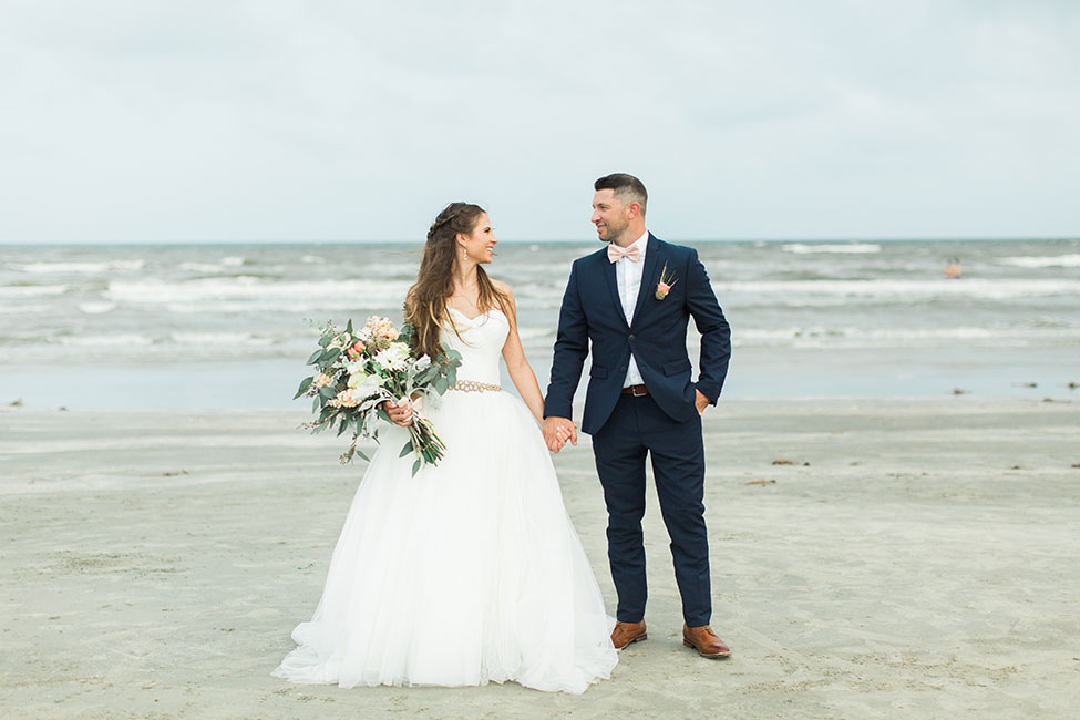 Organic Chic Galveston Texas Beach Wedding Photograph By Karen Theresa Photography