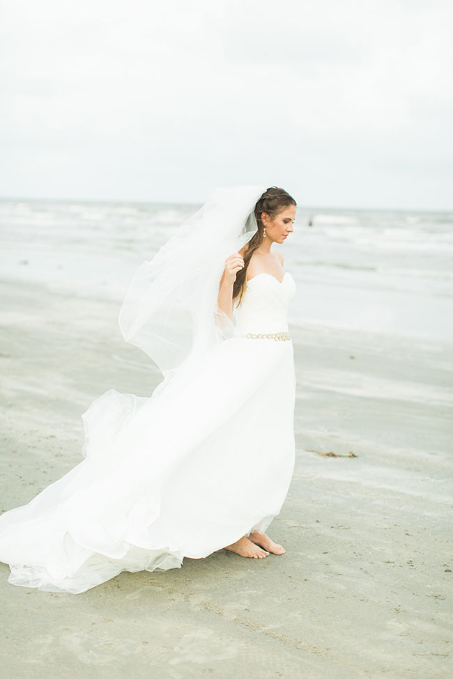 Chic Galveston Texas Beach Wedding