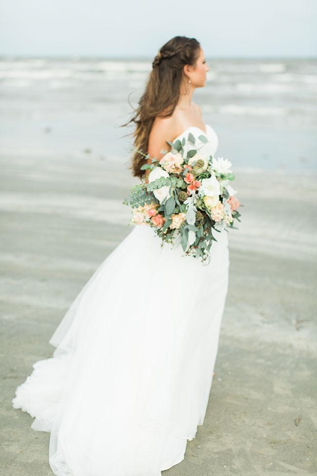 Organic Chic Galveston Texas Beach Wedding Photograph By Karen Theresa Photography