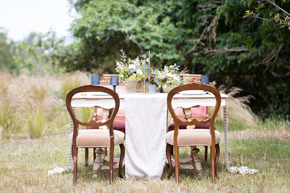 Dreamy Orchard Serenity Blue & Rose Quartz Wedding Tablescapes | Photograph by Olivia Smartt Photography See The Full Story at http://storyboardwedding.com/serenity-blue-rose-quartz-wedding-tablescapes