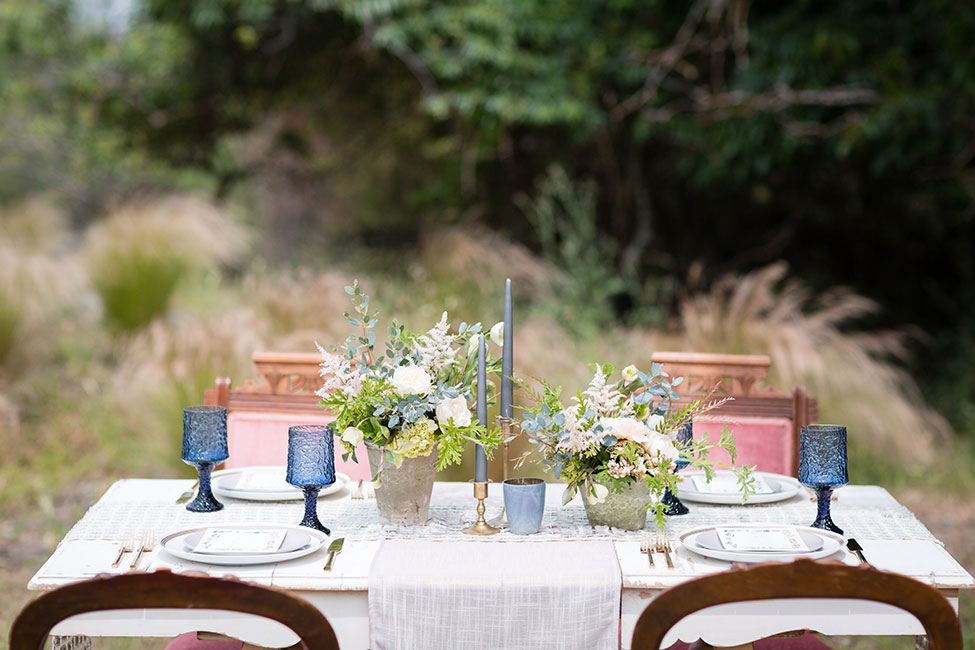 serenity blue rose quartz wedding storyboard wedding