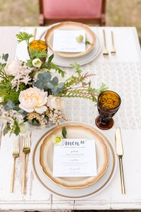 Dreamy Orchard Serenity Blue & Rose Quartz Wedding Tablescapes