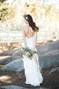 Peach Hued Boho Botantical Wedding At Camarillo Ranch