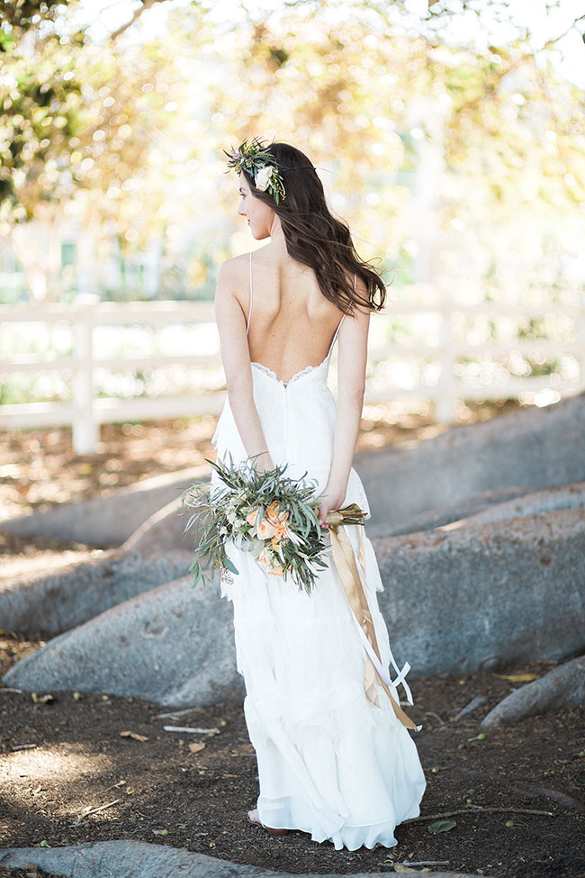 Peach Hued Boho Botantical Wedding At Camarillo Ranch | Photograph by Christy McCarter Photography See The Full Story at http://storyboardwedding.com/boho-botantical-wedding-camarillo-ranch