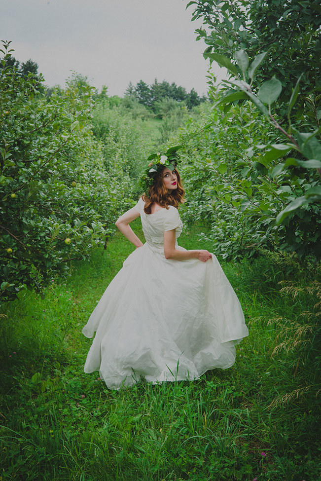 Vibrantly Moody Apple Orchard Wedding | Photograph by Trahms Photography  See The Full Story at https://storyboardwedding.com/moody-apple-orchard-wedding/