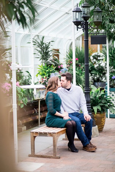 Greenhouse Engagement At Volunteer Park Conservatory Washington | Photograph by Solie Designs  See The Full Feature at http://storyboardwedding.com/greenhouse-engagement-park-conservatory-washington/