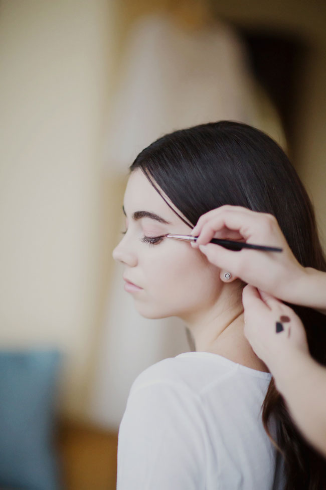 Rose Quartz Kissed Minimalist Bride Hair & Makeup Tutorial | Photograph by Maru Photography  See The Full Feature at https://storyboardwedding.com/rose-quartz-minimalist-bride-hair-makeup-tutorial/