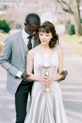 Cool Tone Romantic Gray Gothic Wedding At Thornrose House  | Photograph by  3 Cats Photo See The Full Feature at http://storyboardwedding.com/romantic-gray-gothic-wedding-thornrose-house/