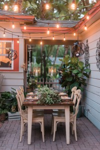 Backyard Engagement Party Greenery Infused Organic Wedding