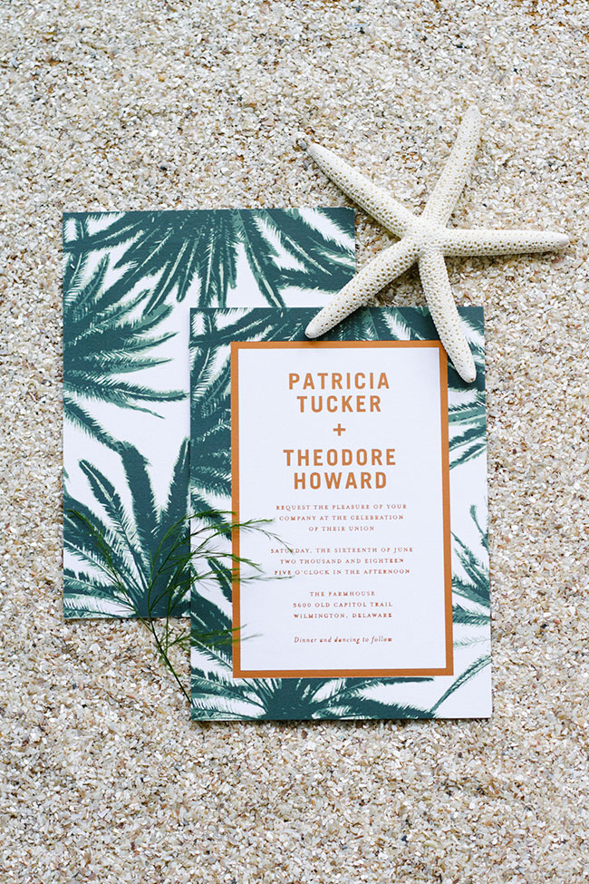 Palm Wedding Invitation Suite Wedding Paper Divas