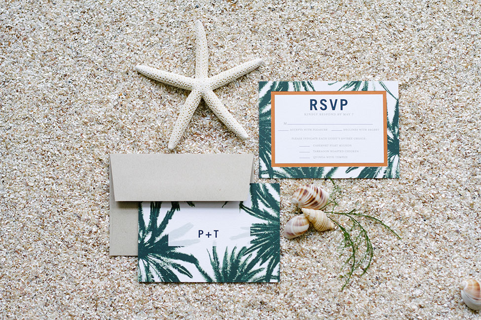 Coastal Inspired Palm Wedding Invitation Suite By Wedding Paper Divas | Learn More About Wedding Invites With Wedding Paper Divas at http://storyboardwedding.com/palm-wedding-invitation-suite-wedding-paper-divas