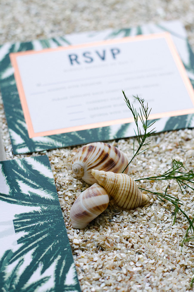 Coastal Inspired Palm Wedding Invitation Suite By Wedding Paper Divas | Learn More About Wedding Invites With Wedding Paper Divas at https://storyboardwedding.com/palm-wedding-invitation-suite-wedding-paper-divas