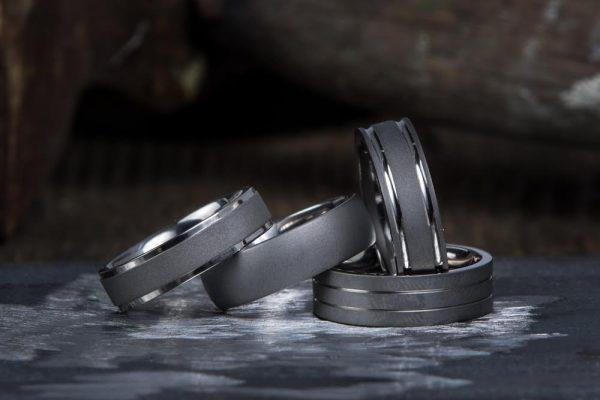 Matte Finish Mens Wedding Ring