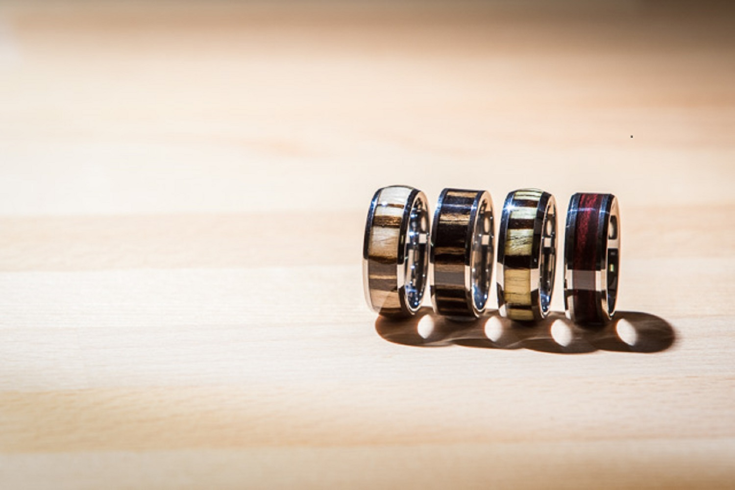 Mixed Metal Wood Mens Wedding Ring