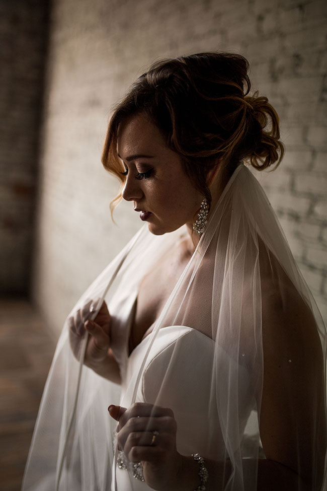 Romantic Industrial Wedding In Rustbelt Coffee Loft   Photograph by Captured by Hannah Photography  See The Full Story at