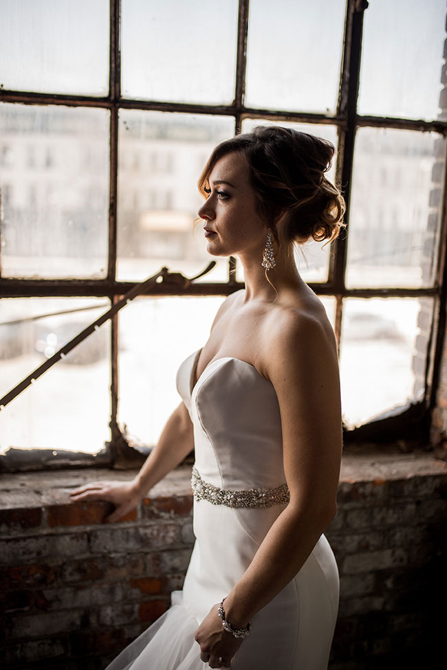 Romantic Industrial Wedding In Rustbelt Coffee Loft | Photograph by Captured by Hannah Photography  See The Full Story at