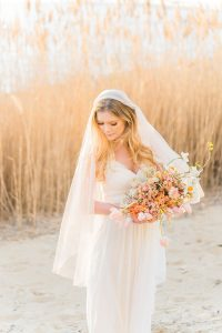 Sun-drenched Fall Bohemian Bridal Style On The Chesapeake Bay