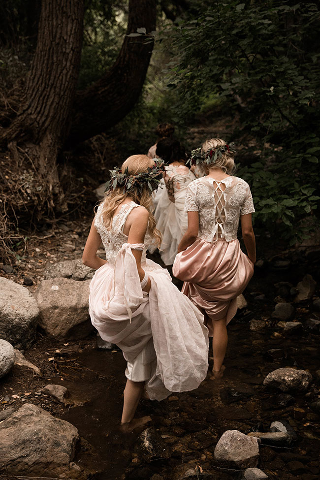Dreamy Woodland Enchanted Bridesmaid Session | Photography by Mapping Light Photography   See the full feature at https://storyboardwedding.com/woodland-enchanted-bridesmaid/