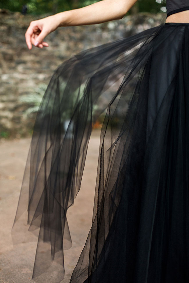 Hauntingly Perfect Gothic Chic Wedding Goddess   Photograph by Rustic White Photography