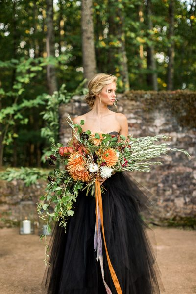 Hauntingly Perfect Gothic Chic Wedding Goddess | Photograph by Rustic White Photography