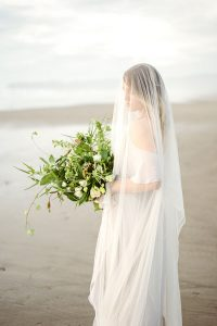 Sea Glass Inspired Moody Oregon Elopement