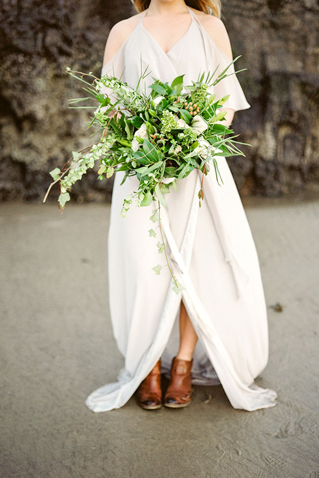 Sea Glass Inspired Moody Oregon Coast Elopement | Photograph by Blush Creative Photography  See the full story at http://storyboardwedding.com/sea-glass-oregon-elopement/
