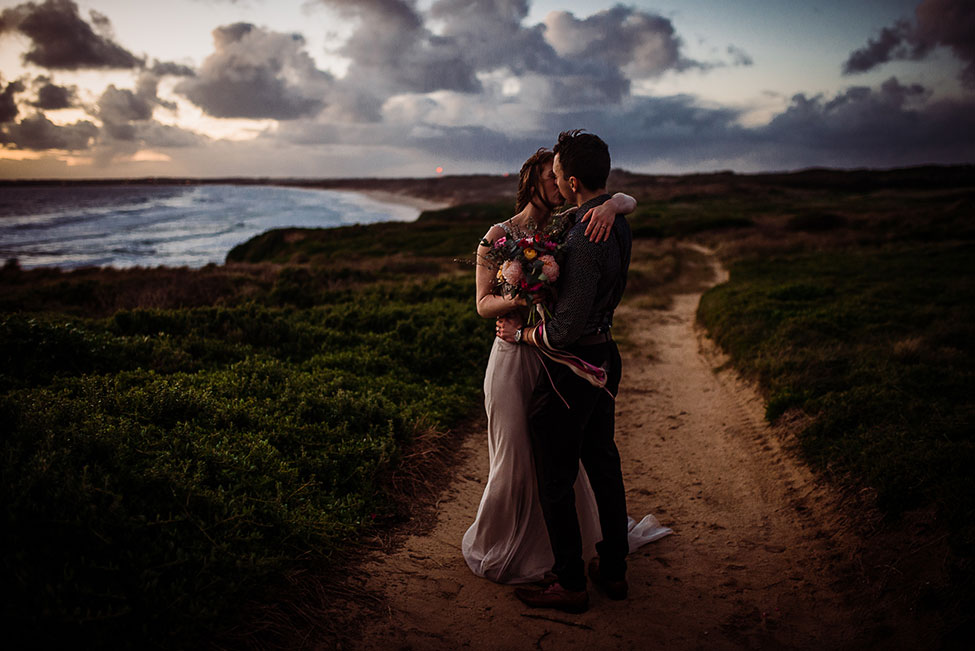 Exceptionally Gorgeous Moody Australian Elopement | Photograph by Ine Ertvaag Photography  See the full post at https://storyboardwedding.com/moody-australian-elopement/