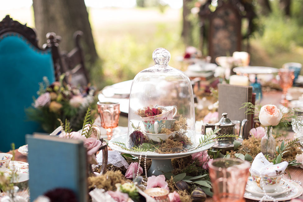 Tea Party In The Woods Wonderland Wedding | Photograph by  Sabrina Hall Photography   See the full story at http://storyboardwedding.com/tea-party-wonderland-wedding/