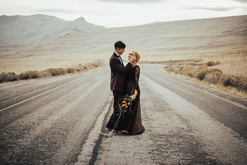 Brooding Romance Antelope Island Utah Wedding | Photograph by Ashley Smith Photography  See the full story at http://storyboardwedding.com/antelope-island-utah-wedding-brooding-romance