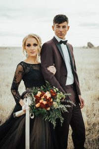 Brooding Romance Antelope Island Utah Wedding