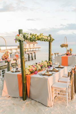 Sandals-South-Coast-Aisle-to-Isle-Beach-Reception