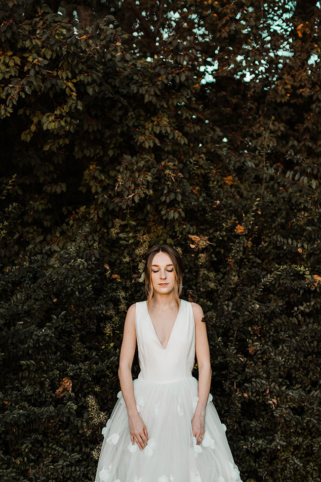 Early Autumn Golden Hour Dream Forest Wedding At Historic Castle Rock | Photograph by Rachel Fugate  See the full story at http://storyboardwedding.com/autumn-golden-hour-forest-wedding-castle-rock/