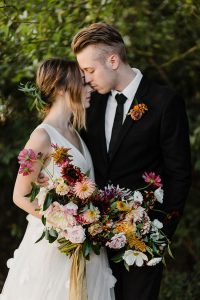 Early Autumn Golden Hour Dream Forest Wedding At Historic Castle Rock