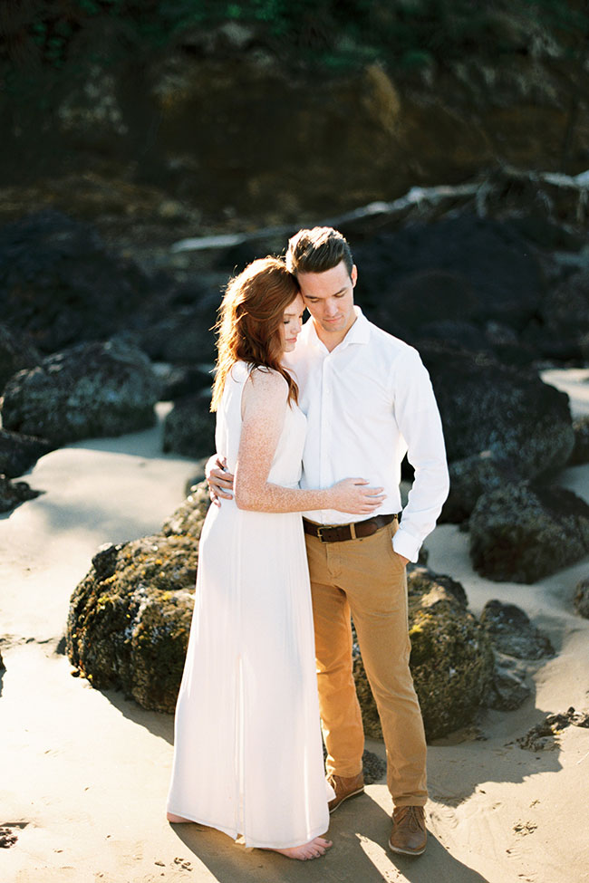 Dreamy Oregon Coast Engagement Shot On Film |  Photograph by Sarah Nichole Photography See the full story at  https://storyboardwedding.com/pacific-northwest-oregon-coast-engagement-film