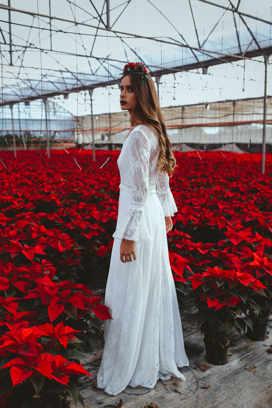 Poinsettia Farm Red Essence Spanish Wedding With Eclectic Detailing | Photograph by Carlos Lucca Fotografo  See the full wedding at http://storyboardwedding.com/poinsettia-farm-red-essence-spanish-wedding-eclectic-details/
